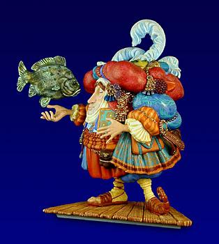 Levi Levitates The Stone Fish – Sculpture- SculpturePorcelain – 3-Dimensional – 2500Limited – 7″ High