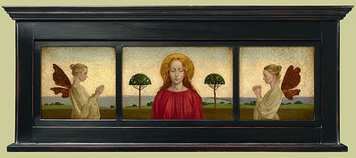 Madonna With Two Angels – Framed- Signed By The Artist – CanvasGiclee – Limited Edition – A/P – 7x23