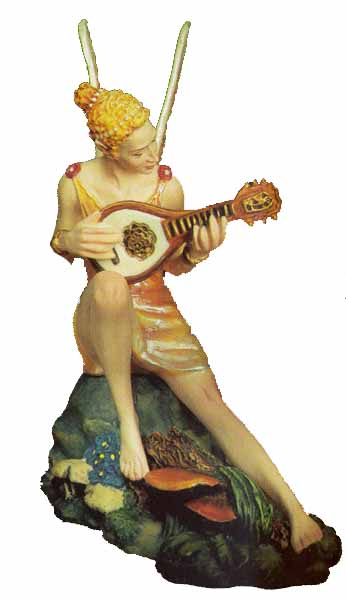 Melody- Sculpture Pearl Bisque – 3-Dimensional – 2500 Limited – 4 3/4″ High