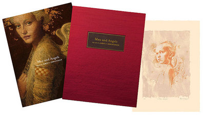 Men And Angels: The Art Of James C. Christensen – Collector's Edition- Signed By The Artist – PaperLithograph – Limited Edition – 150S/N – 11x14