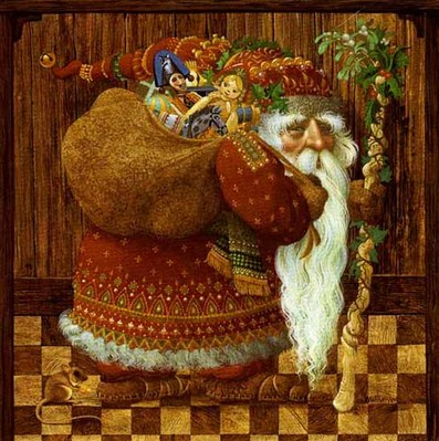 Olde World Santa- Signed By The Artist – PaperLithograph – Limited Edition – A/P – 15 1/2x15 1/2