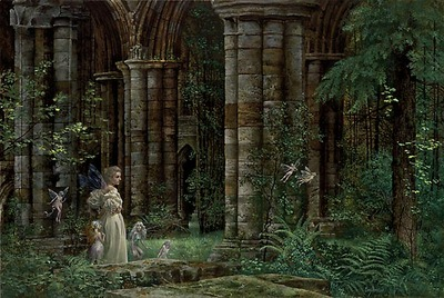 Queen Mab In The Ruins- Signed By The Artist								 – Paper Lithograph – Limited Edition – 1950 S/N – 19 1/2 x 29
