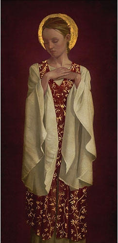 Saint With White Sleeves- Signed By The Artist – PaperLithograph – Limited Edition – A/P – 23 1/2x12 7/8