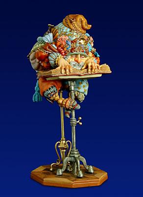 The Scholar – Sculpture- SculpturePorcelain – 3-Dimensional – 1700Limited – 71/2″ High