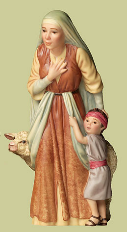 The Shepherd's Wife- Sculpture Porcelain – 3-Dimensional – Limited – 5 1/2″ High