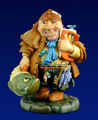 The Traveling Fish Salesman- SculpturePorcelain – 3-Dimensional – Limited – 6″ High