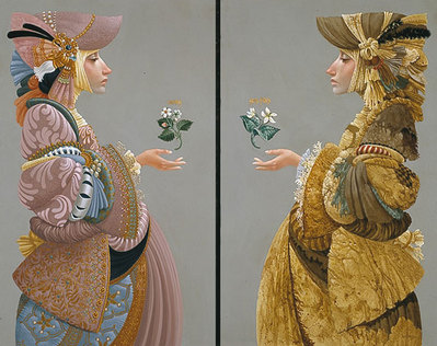Two Sisters (2-Piece Set)- Signed By The Artist								 – Canvas Giclee – Limited Edition – 200 S/N – 23 x 14