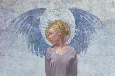 Angel Unaware- Signed By The Artist								 – Paper Giclee – Limited Edition – 50 A/P – 13 1/4 x 19 3/4