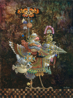 Butterfly Knight- Signed By The Artist								 – Canvas Giclee – Limited Edition – 300 S/N – 12 x 9