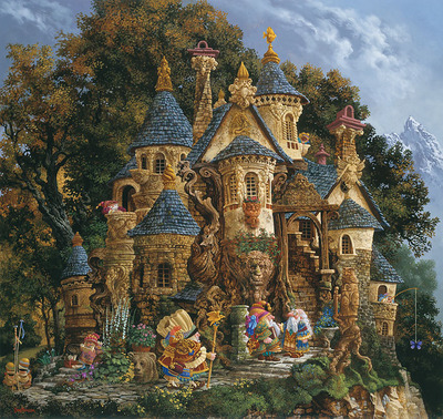 College Of Magical Knowledge- Signed By The Artist – CanvasGiclee – Limited Edition – 35S/N – 32x34 –