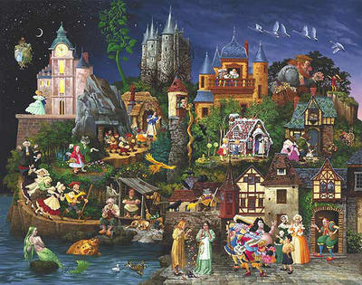 Faery Tales- Signed By The Artist – CanvasGiclee – Limited Edition – A/P – 32x41 –