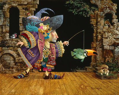 Fish In A Toucan Mask- Signed By The Artist – PaperGiclee – Limited Edition – 95S/N – 16x19 1/2