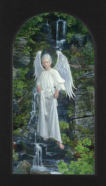 Living Waters – With Custom Tabernacle Black Liner- Signed By The Artist – CanvasGiclee – Limited Edition – 250S/N – 27 1/2x15 5/8