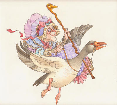 Mother Goose – Etching- Signed By The Artist – PaperEtching – Limited Edition – 60S/N – 8 3/4x9 1/2