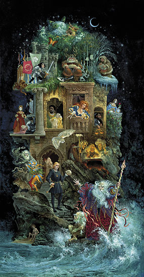 Shakespearean Fantasy- Signed By The Artist – CanvasGiclee – Limited Edition – 150S/N – 40x21