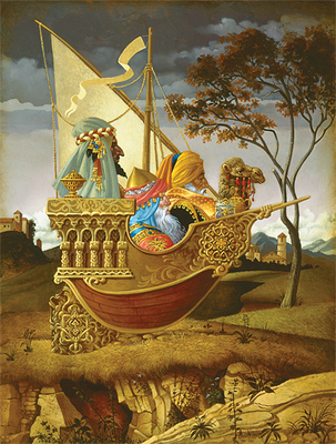 Three Wise Men In A Boat- Signed By The Artist								 – Canvas Giclee – Limited Edition – 250 S/N – 16 x 12