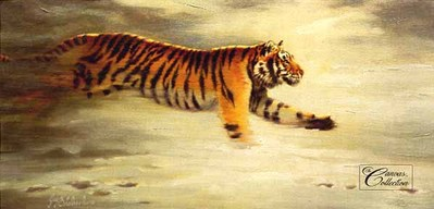 Siberian Pursuit- Signed By The Artist								 – Canvas Lithograph – Limited Edition – 150 S/N – 15 x 30
