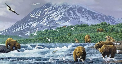 Absolute Alaska- Signed By The Artist								 – Canvas Giclee – Limited Edition – A/P – 21 x 40 –