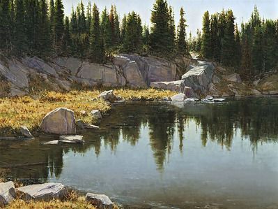 Still Waters- Signed By The Artist – CanvasGiclee  – Limited Edition  – 25S/N  –  30x40