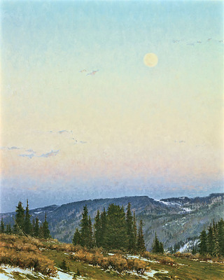 Twilight Moon- Signed By The Artist								 – Canvas Giclee – Limited Edition – 25 S/N – 30 x 24