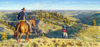 Head Five Miles That Way,… And Then Go Five Miles That Way,… 'Bring Back Every Critter Ya Find!- Signed By The Artist – CanvasGiclee  – Limited Edition  – 75S/N  –  8x17