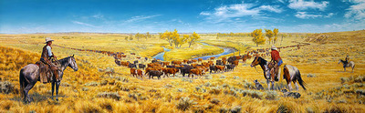 Noth'n Like The Feel'n Of Ride'n A Fine Horse- Signed By The Artist – CanvasGiclee  – Limited Edition  – 25S/N  –  24x80