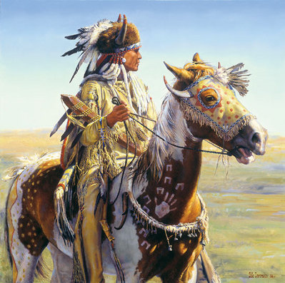 Today We Will Look Our Best,… And, You Will Take Me Where I Want To Go,… Tomorrow They Will Tell Stories Of Our Deeds!- Signed By The Artist								 – Canvas Giclee – Limited Edition – 35 S/N – 29 x 29