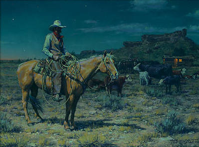 Wait'n Fer Them To Mother-Up,… And Bed Down- Signed By The Artist – CanvasGiclee  – Limited Edition  – 75S/N  –  10x13
