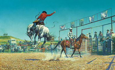 Them's A Bunch-A Bronc Stomp'N… Sun-Fishin… S.O.B.'s- Signed By The Artist – PaperLithograph – Limited Edition – 550S/N – 19 1/2x32