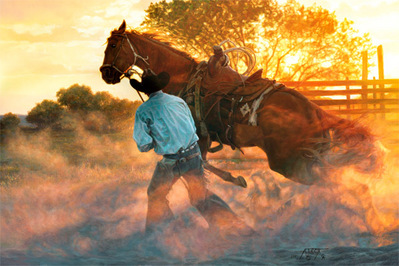 When Horse Whispering Gets Loud- Signed By The Artist								 – Canvas Giclee – Limited Edition – 150 S/N – 24 x 36