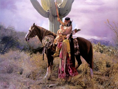 Apache Farewell- Signed By The Artist								 – Canvas Giclee – Limited Edition – 100 S/N – 22 x 28