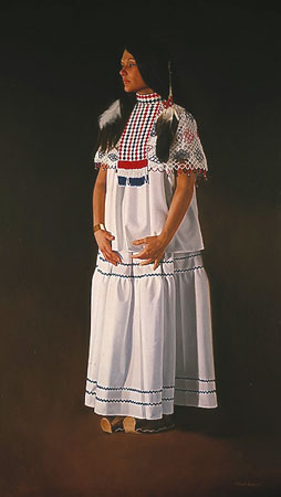Apache In White- Signed By The Artist								 – Paper Lithograph – Limited Edition – 1500 S/N – 29 x 16 1/2