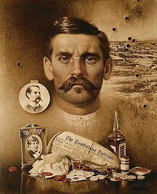 Doc Holliday: Well I'll Be Damned!- Signed By The Artist – CanvasGiclee  – Limited Edition  – 250S/N  –  11x9
