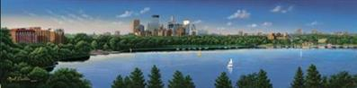 City Among The Lakes- Signed By The Artist – CanvasGiclee  – Limited Edition  – 195S/N  –  12x48