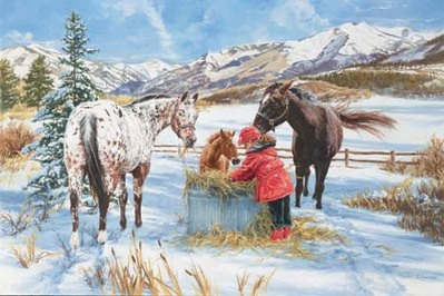Hoofprints In The Snow- Signed By The Artist – CanvasGiclee – Limited Edition – 180S/N – 16x24