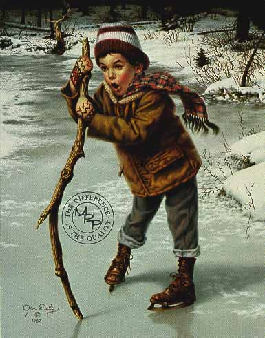 On Thin Ice- Signed By The Artist – PaperLithograph – Limited Edition – 950S/N – 24 3/8x21