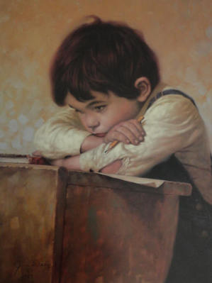 The Scholar- Signed By The Artist – PaperLithograph – Limited Edition – 1500S/N – 15 1/8x11 1/4