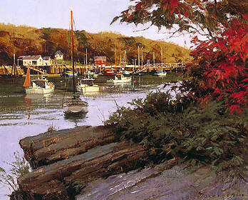 Autumn In Little River- Signed By The Artist – CanvasGiclee – Limited Edition – 75S/N – 8x10