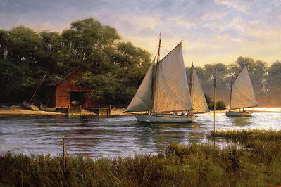 By The Old Boat House- Signed By The Artist – CanvasGiclee – Limited Edition – 100S/N – 15x23