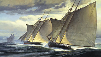 End Of Day One: The Great Transatlantic Race, 1866- Signed By The Artist – CanvasGiclee – Limited Edition – 50S/N – 25x44