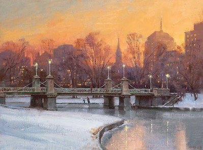 Evening Skate- Signed By The Artist – CanvasGiclee – Limited Edition – 75S/N – 9x12