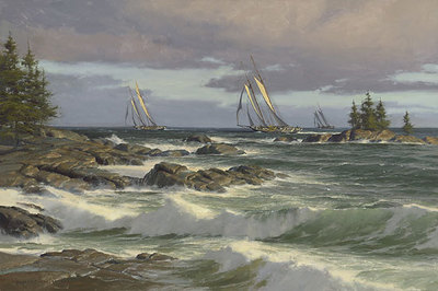 The Windswept Coast- Signed By The Artist – CanvasGiclee – Limited Edition – 50S/N – 28x42