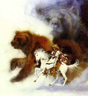 Two Bears Of The Blackfeet- Signed By The Artist – PaperLithograph – Limited Edition – 2650S/N – 20 3/8x18 5/8