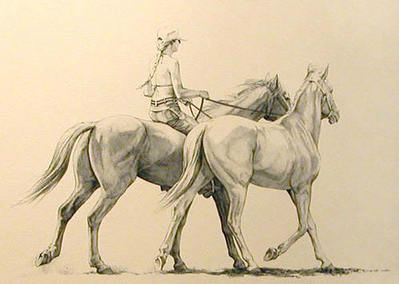 Bareback- Signed By The Artist								 – Paper Lithograph – Limited Edition – 30 S/N – 7 1/2 x 11 1/2