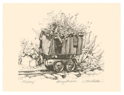 Mining Marigolds- Signed By The Artist – PaperLithograph – Limited Edition – 100S/N – 8x10