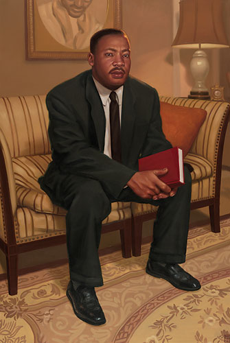 Dr. Martin Luther King, Jr.- Signed By The Artist – CanvasGiclee – Limited Edition – 125S/N – 40x27