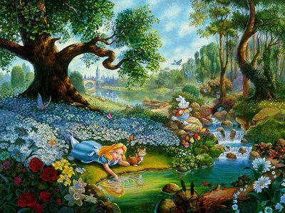 Alice's Magical Journey In Wonderland- Signed By The Artist								 – Canvas Lithograph – Limited Edition – 2500 S/N – 22 x 28