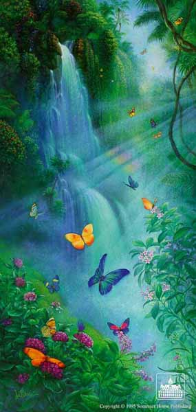 Butterflies In The Mist- Signed By The Artist – PaperLithograph – Limited Edition – 7500S/N – 22x10 5/8