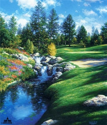 The 12th At Castle Pines- Signed By The Artist – PaperLithograph – Limited Edition – 1500S/N – 25 3/8x20 3/4
