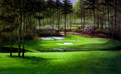 Augusta – 12th Hole- Signed By The Artist								 – Paper Lithograph – Limited Edition – 1500 S/N – 20 1/8 x 32 3/8